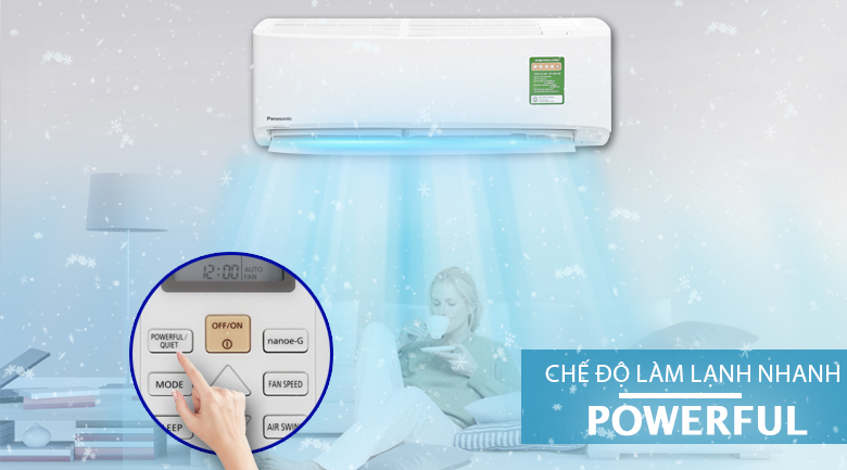 Powerful - Máy lạnh Panasonic Inverter 1.5 HP CU/CS-PU12UKH-8