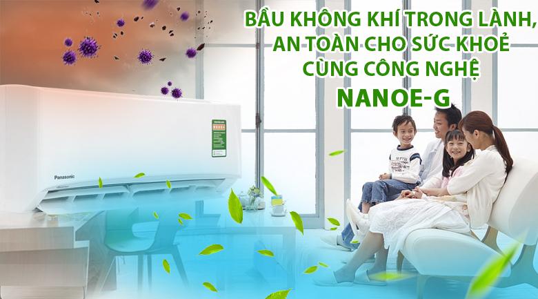 Công nghệ Nanoe-G cho bầu không khí trong lành, tốt cho sức khỏe