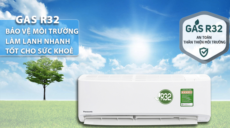 Gas R32 - Máy lạnh Panasonic Inverter 1.5 HP CU/CS-PU12UKH-8