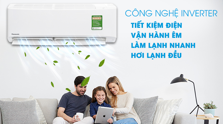 Inverter - Máy lạnh Panasonic Inverter 1.5 HP CU/CS-PU12UKH-8