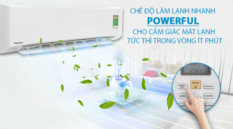 Làm lạnh nhanh - Máy lạnh Panasonic Inverter 2 HP CU/CS-PU18UKH-8