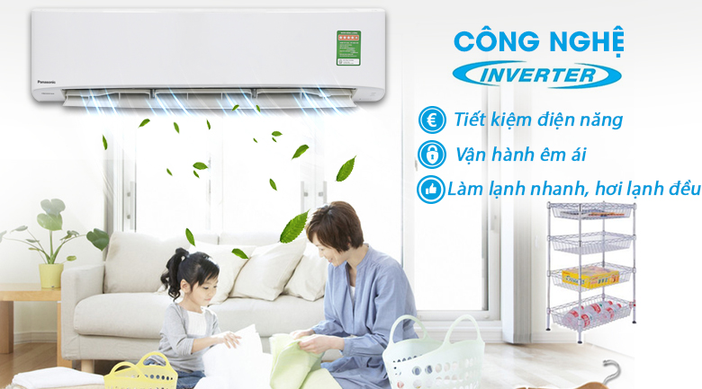 Inverter - Máy lạnh Panasonic Inverter 2.5 HP CU/CS-PU24UKH-8