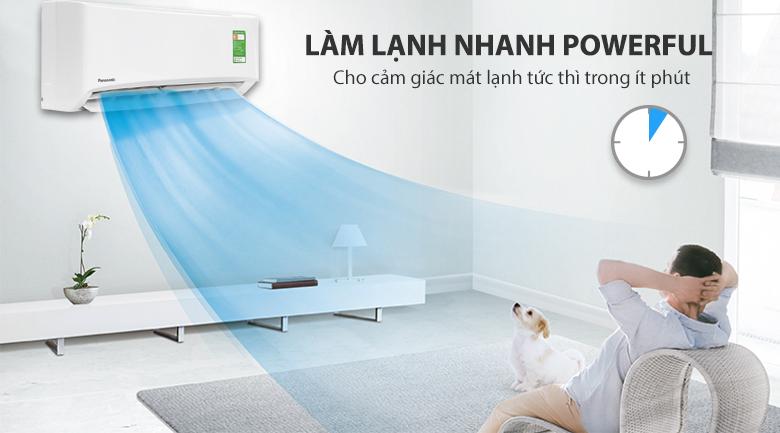 Làm lạnh nhanh - Máy lạnh Panasonic 1.5 HP CU/CS-N12UKH-8