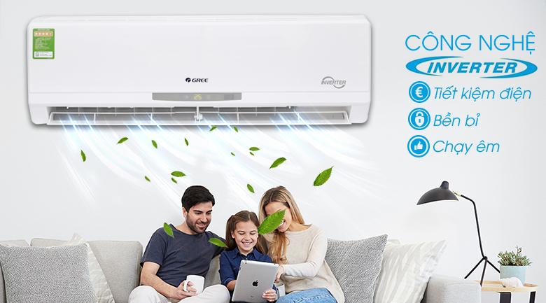 Công nghệ Inverter - Máy lạnh Gree Inverter 1 HP GWC09CA-K3DNC2I
