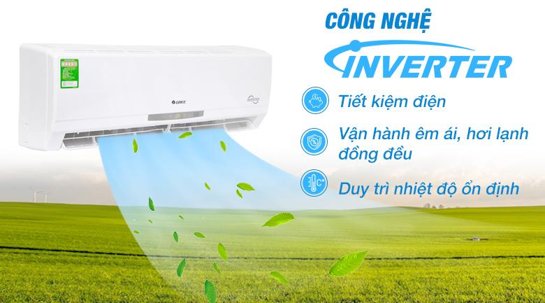 Inverter - Máy lạnh Gree Inverter 1.5 HP GWC12CA-K3DNC2I