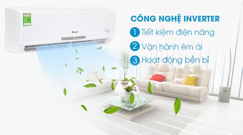 Inverter - Máy lạnh Gree Inverter 2 HP GWC18CC-K3DNC2L