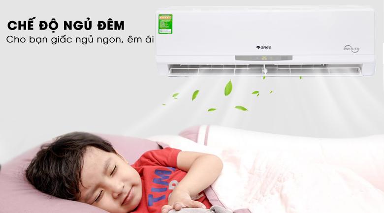 Chế độ ngủ đêm - Máy lạnh Gree Inverter 2 HP GWC18CC-K3DNC2L