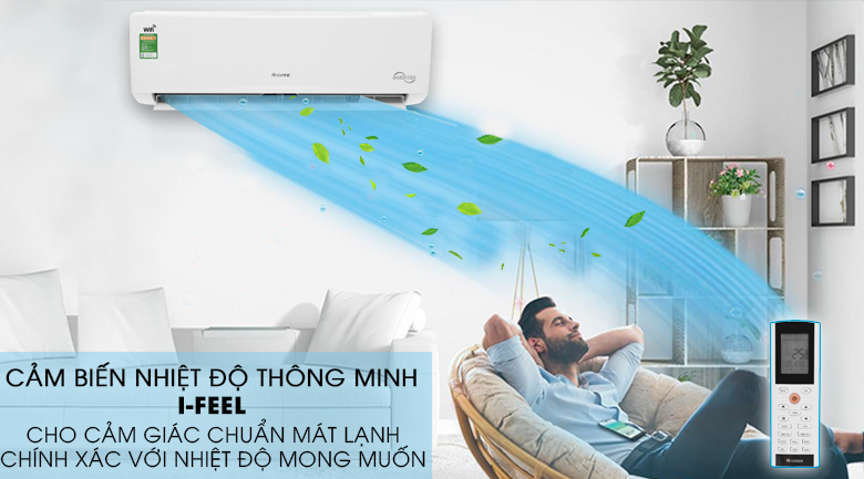 I-feel - Máy lạnh Gree Wifi Inverter 1 HP GWC09BC-K6DNA1B