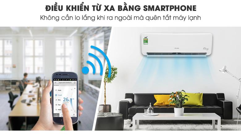 Điều khiển bằng điện thoại - Máy lạnh Gree Wifi Inverter 1 HP GWC09BC-K6DNA1B