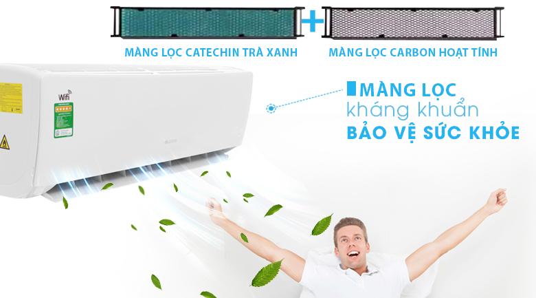 Màng lọc chức năng catechin trà xanh & carbon hoạt tính - Máy lạnh Gree Wifi Inverter 1 HP GWC09BC-K6DNA1B
