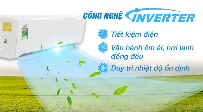 Inverter - Máy lạnh Gree Wifi Inverter 1.5 HP GWC12BC-K6DNA1B