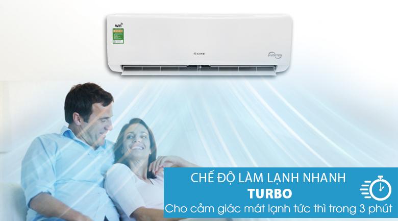 Chế độ làm lạnh nhanh - Máy lạnh Gree Wifi Inverter 1.5 HP GWC12BC-K6DNA1B