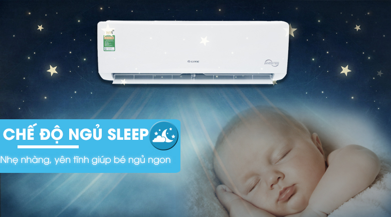 Chế độ ngủ - Máy lạnh Gree Wifi Inverter 1.5 HP GWC12BC-K6DNA1B