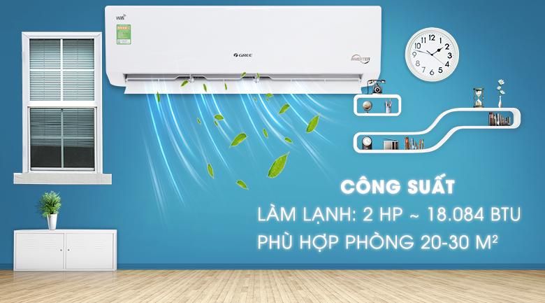 Máy lạnh Gree Wifi Inverter 2 HP GWC18BD-K6DNA1B