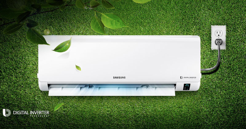Làm lạnh nhanh, tiết kiệm điện cùng công nghệ Digital Inverter máy nén 8 cực
