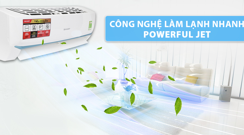 Powerful Jet - Máy lạnh Sharp 1 HP AH-A25UEW