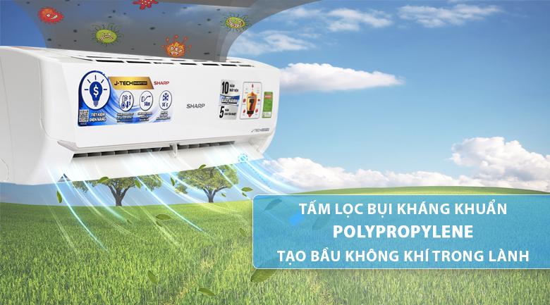 Tấm lọc bụi Polypropylene - Máy lạnh Sharp Inverter 1 HP AH-X9VEW