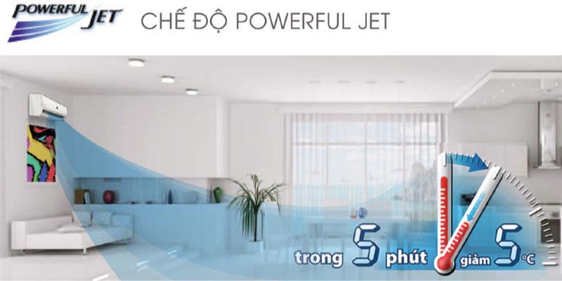 Công nghệ Powerful Jet cho hơi lạnh tức thì