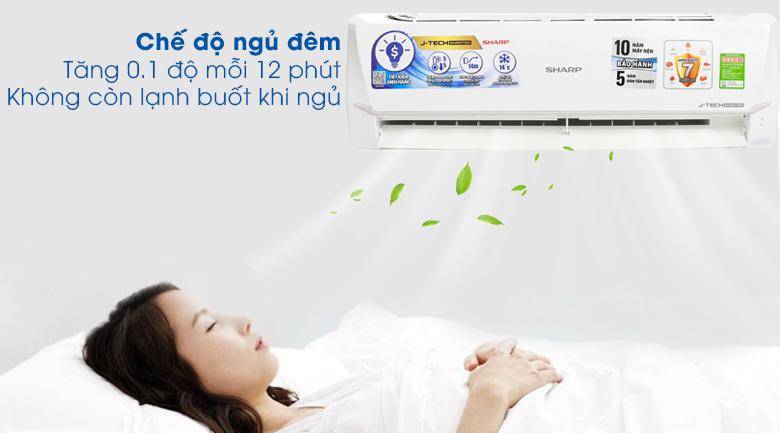 Chế độ ngủ đêm - Máy lạnh Sharp Inverter 1.5 HP AH-X12VEW