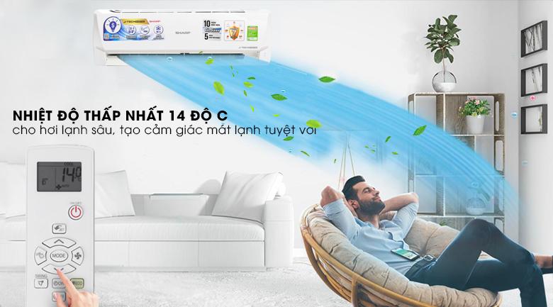 14 độ C - Máy lạnh Sharp Inverter 1.5 HP AH-X12VEW