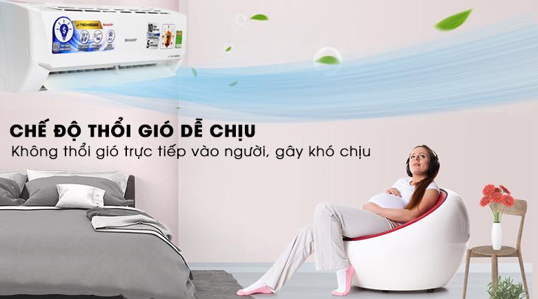 Chế độ Gentle Cool Air - Máy lạnh Sharp Inverter 1.5 HP AH-X12VEW
