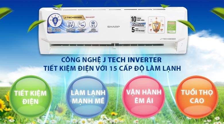Công nghệ J-Tech Inverter - Máy lạnh Sharp Inverter 2 HP AH-X18VEW