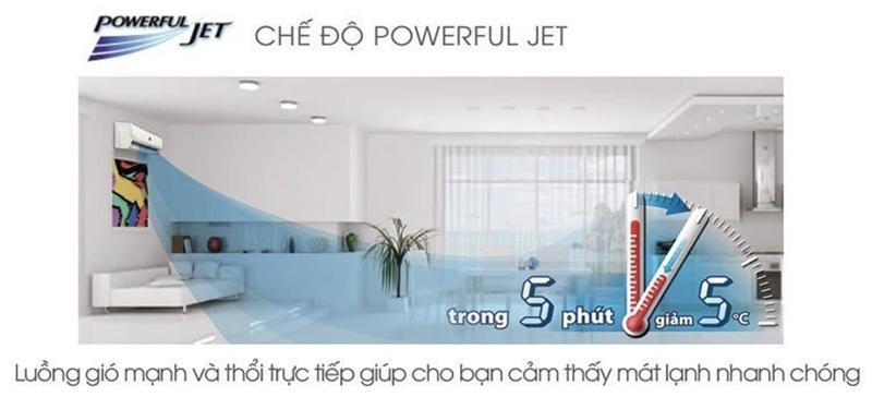 Công nghệ làm lạnh nhanh Powerful Jet