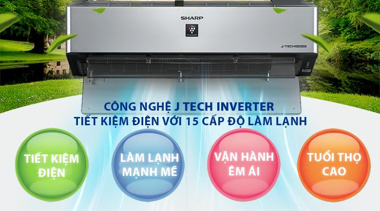 J-Tech Inverter - Máy lạnh Sharp Inverter Wifi 1 HP AH-XP10VXW