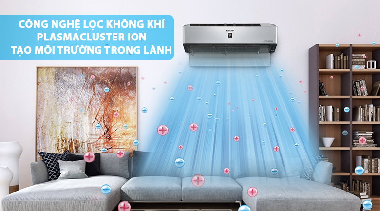 Plasmacluster ION - Máy lạnh Sharp Inverter Wifi 1 HP AH-XP10VXW
