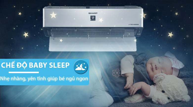 Baby Sleep - Máy lạnh Sharp Inverter Wifi 1 HP AH-XP10VXW