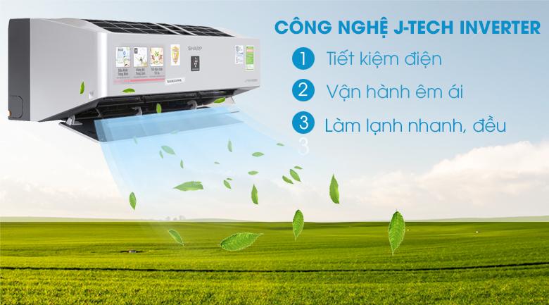 Công nghệ J-Tech Inverter - Máy lạnh Sharp Inverter Wifi 1.5 HP AH-XP13VXW