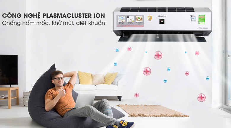 Plasmacluster ion - Máy lạnh Sharp Inverter Wifi 1.5 HP AH-XP13VXW