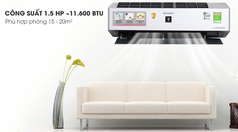Máy lạnh Sharp Inverter 1.5 HP AH-XP13VXW