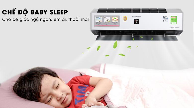 Baby Sleep - Máy lạnh Sharp Inverter Wifi 1.5 HP AH-XP13VXW