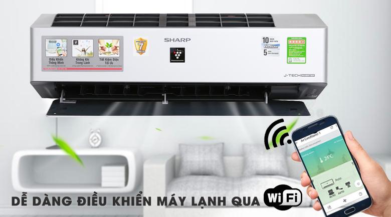 Máy lạnh thông minh - Máy lạnh Sharp Inverter Wifi 1.5 HP AH-XP13VXW