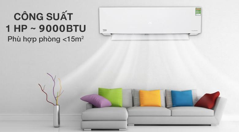 Máy lạnh Beko Inverter 1 HP RSVC10BV