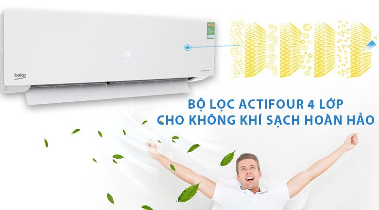 Màng lọc 4 lớp Actifour - Máy lạnh Beko Inverter 1.5 HP RSVC13BV