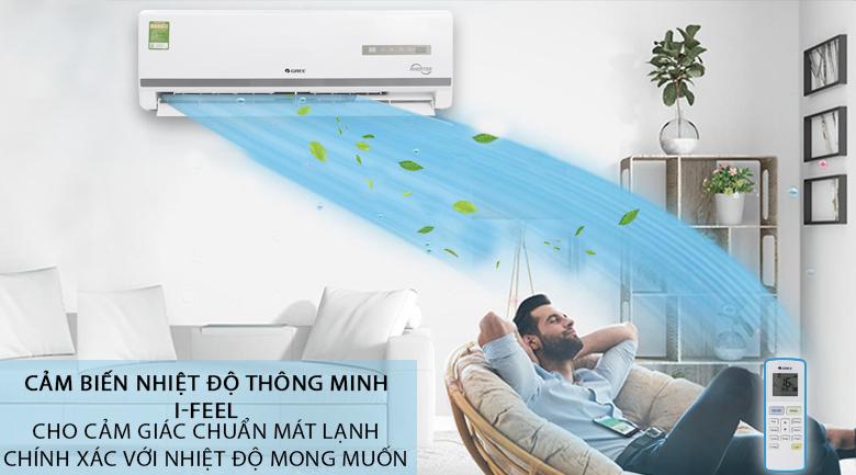 Cảm biến nhiệt độ thông minh I Feel - Máy lạnh Gree Inverter 1.5 HP GWC12WA-K3DNB7I