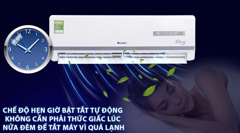 Chế độ hẹn giờ bật tắt tự động - Máy lạnh Gree Inverter 1.5 HP GWC12WA-K3DNB7I
