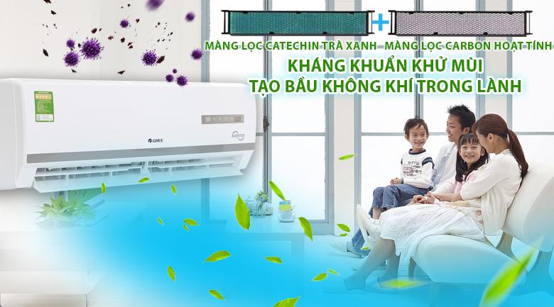 Màng lọc kháng khuẩn - Máy lạnh Gree Inverter 1.5 HP GWC12WA-K3DNB7I
