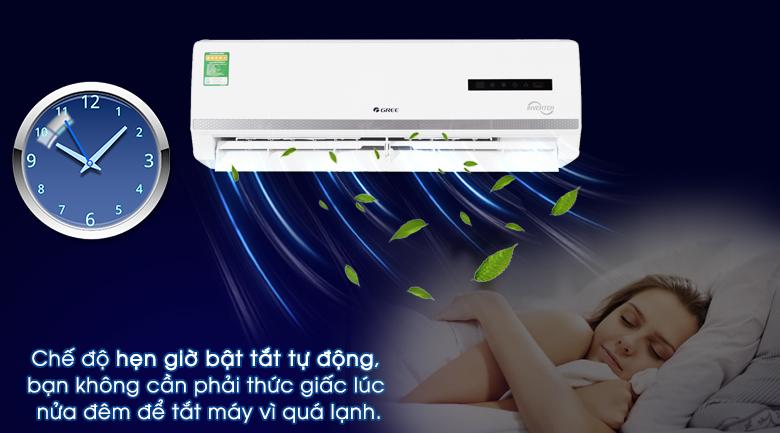 Tính năng hẹn giờ - Máy lạnh 2 chiều Gree Inverter 1 HP GWH09WA-K3DNB7L