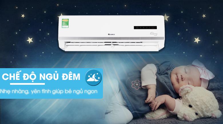 Chế độ ngủ đêm - Máy lạnh 2 chiều Gree Inverter 1 HP GWH09WA-K3DNB7L