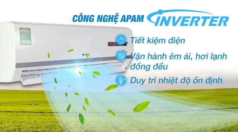 Công nghệ Inverter - Điều hòa 2 chiều Gree Inverter 17150 BTU GWH18WC-K3DNB7L