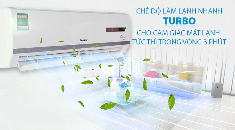 Chế độ Turbo - Điều hòa 2 chiều Gree Inverter 17150 BTU GWH18WC-K3DNB7L