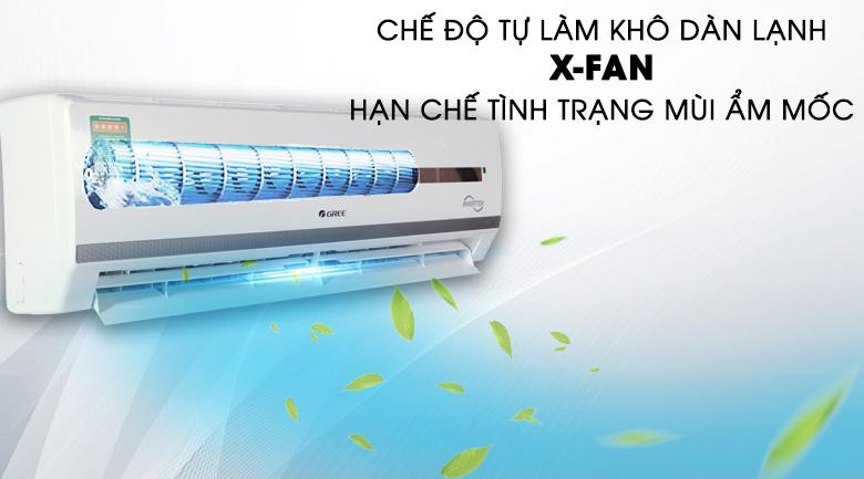XFan - Điều hòa 2 chiều Gree Inverter 17150 BTU GWH18WC-K3DNB7L