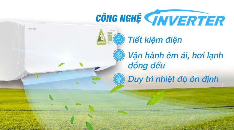 Inverter - Máy lạnh Daikin Inverter 1 HP ATKC25TVMV