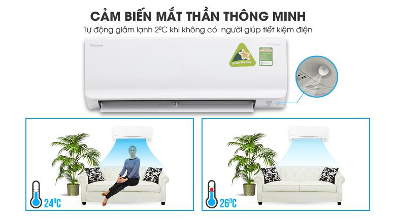 Cảm biến mắt thần thông mình - Máy lạnh Daikin Inverter 1 HP ATKC25TVMV