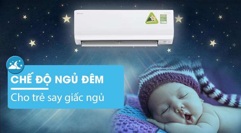 Ngủ đêm - Máy lạnh Daikin Inverter 1 HP ATKC25TVMV