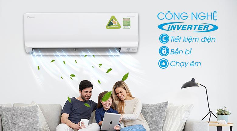 Công nghệ Inverter - Máy lạnh Daikin Inverter 1.5 HP ATKC35TVMV