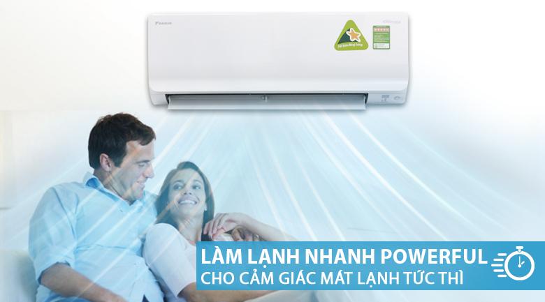 Làm lạnh nhanh - Máy lạnh Daikin Inverter 1.5 HP ATKC35TVMV